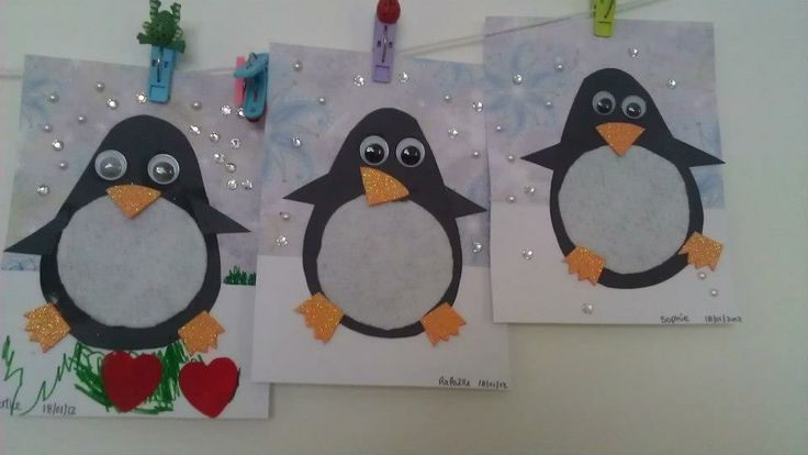 pingouin brico hiver crafts for kids kids rugs et. Black Bedroom Furniture Sets. Home Design Ideas