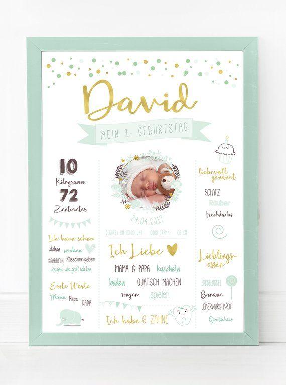 Das erste Jahr des Babys ist immer etwas ganz Besonderes und mit unserem Meilenstein …   – Kilian