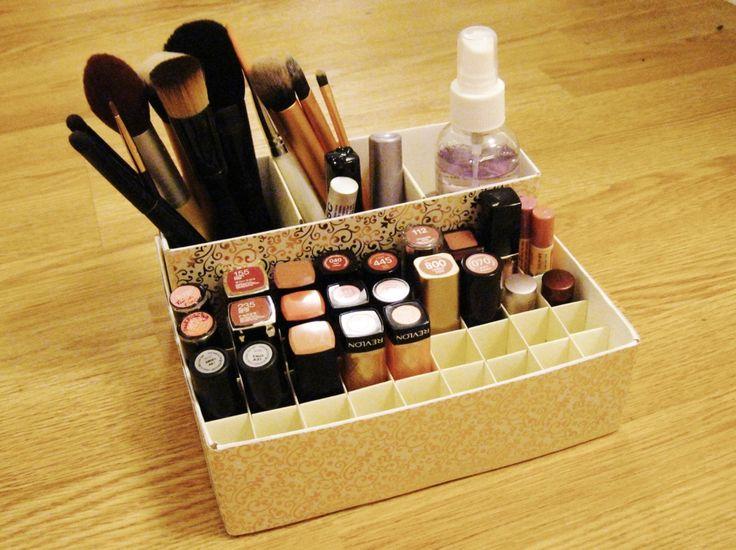 organize the makeup. now.
