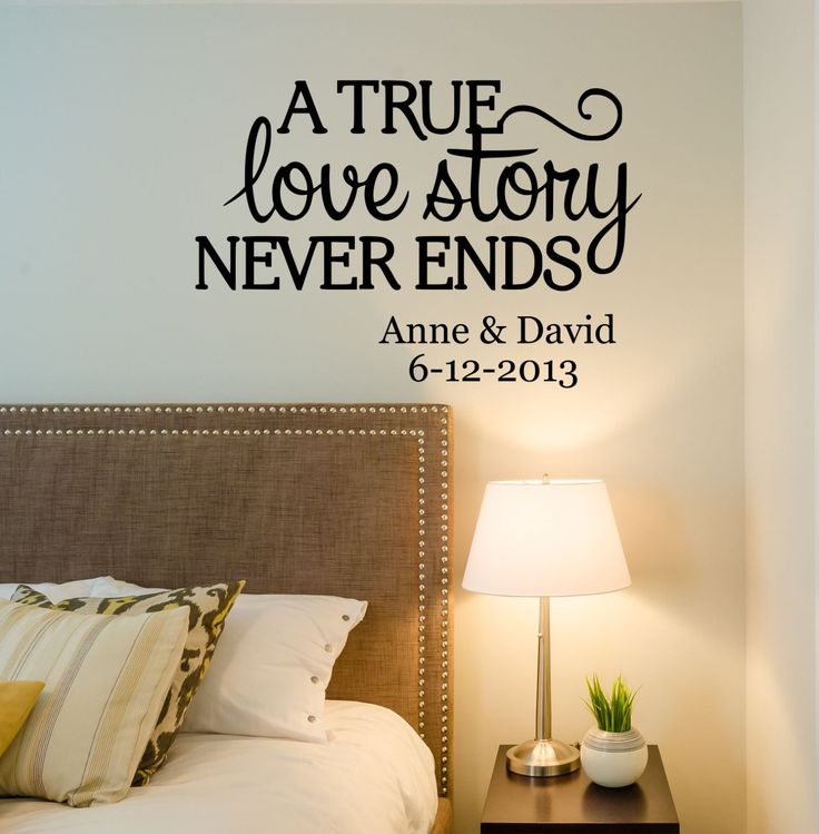 Love Wall Quotes: 17 Best Bedroom Wall Quotes On Pinterest