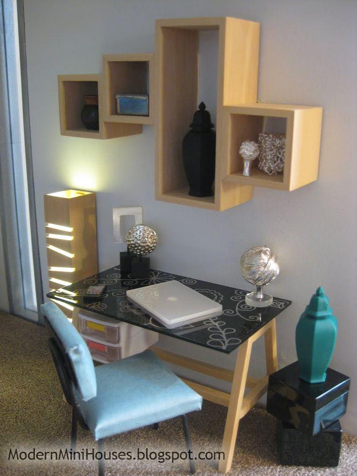 Modern Miniature Desk Space In Scale