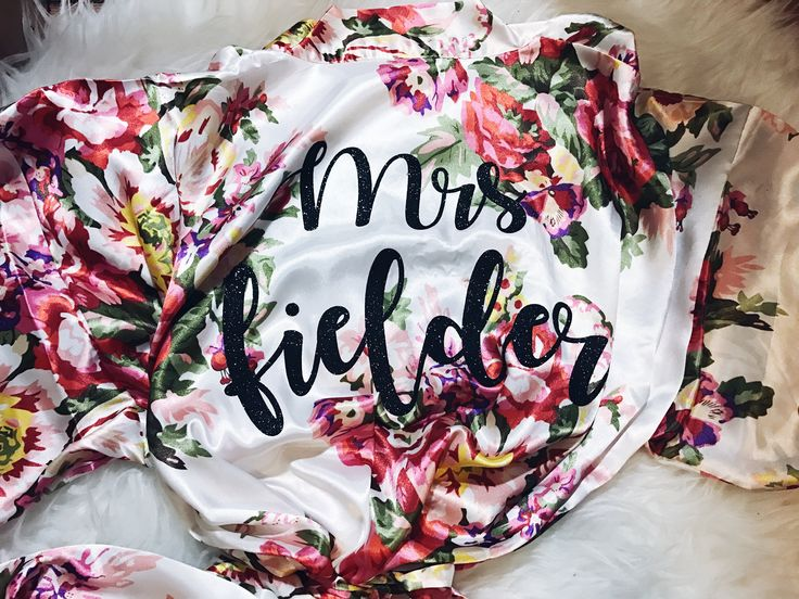 Hi! These floral robes are satin and perfect for any wedding! They're very romantic and the perfect floral pattern!  The fit does run a little small. I will have the sizing listed below.  I suggest A dark Glitter on these floral prints to stand out best!  Message me for a large order !   S/m- 3