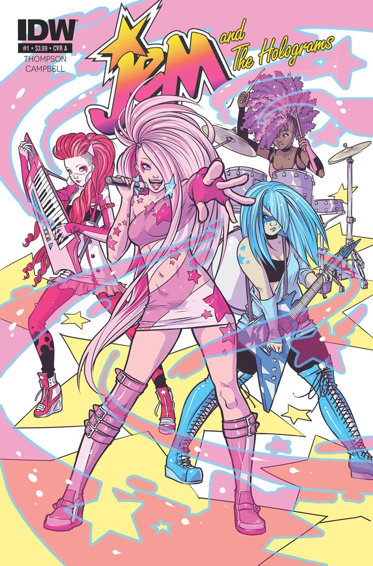 Sophie Campbell's AWESOME art for Jem and the Holograms.