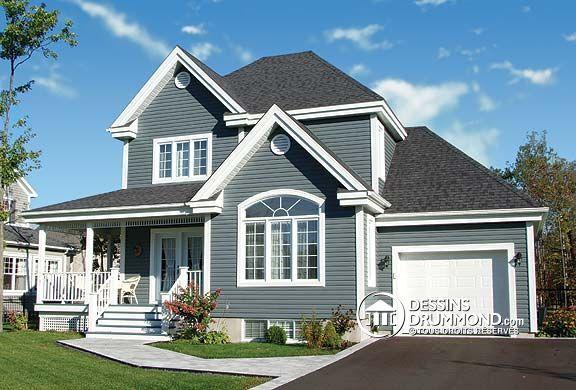 Mod le de maison champ tre no 3820 de dessins drummond simple de bon - Modele maison champetre ...