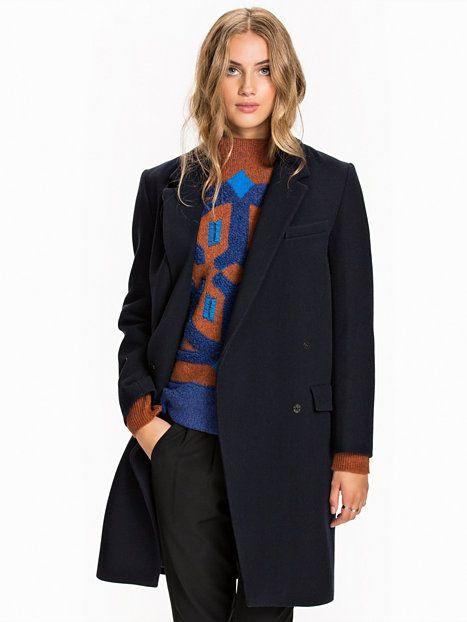Anissa Coat, Navy Blue, Dagmar