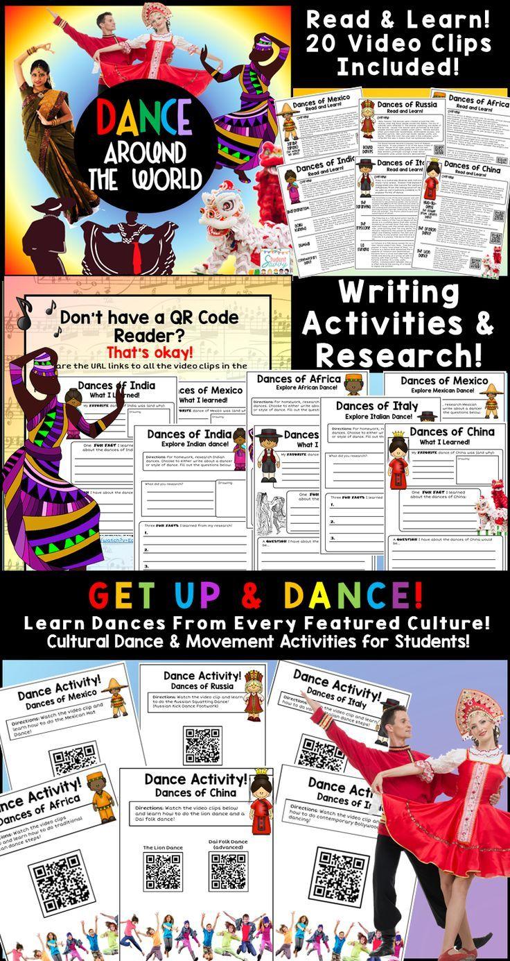 dance writing activities