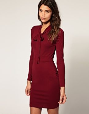 But could we call it something other than a pussybow?: Style, Asos Pencil, Long Sleeved Dress, Dress Obsessed, Colored Asos, Pencil Dresses, Asos Dress, Work Dresses