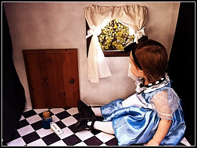 Alice in Wonderland / Through the Looking Glass tiny room for toddler photo shoot