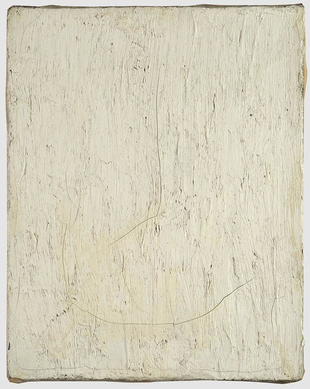 Robert Rauschenberg, Untitled [small white lead painting], c. 1953 Oil on canvas 10 x 8 inches
