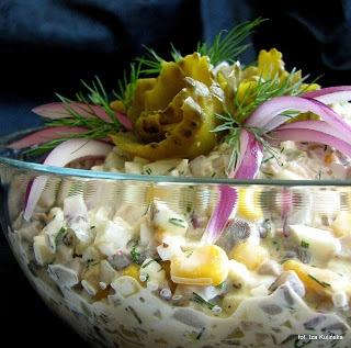Smaczna Pyza: Sałatka pieczarkowa - http://smacznapyza.blogspot.com/2012/11/saatka-pieczarkowa.html