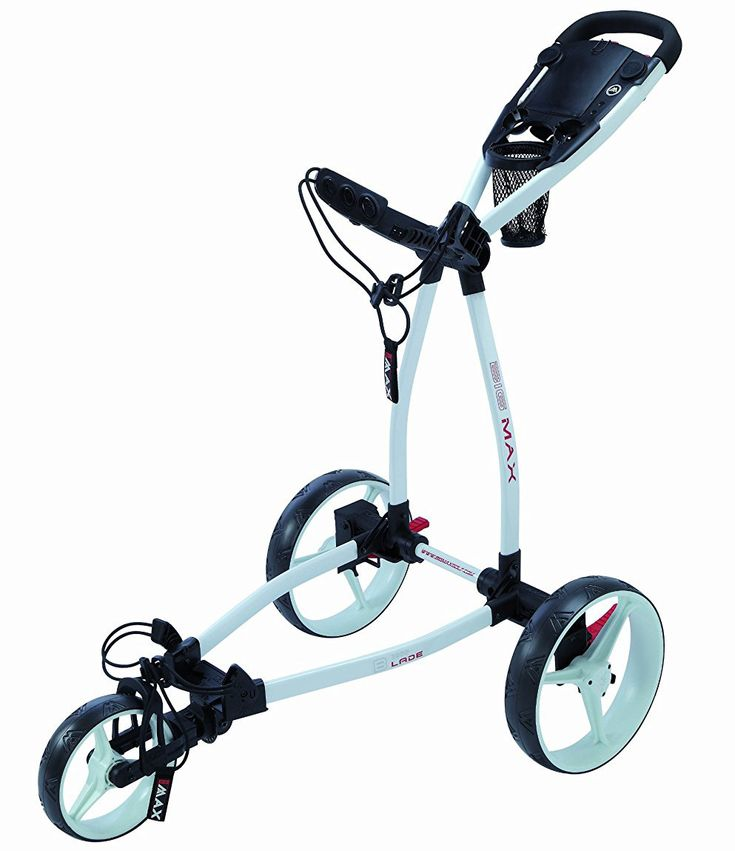 Offering the world's first ever fold flat system this blade trolley golf push cart by Big Max folds to less than five inches thin making it incredibly easy to fit into any car trunk or locker!