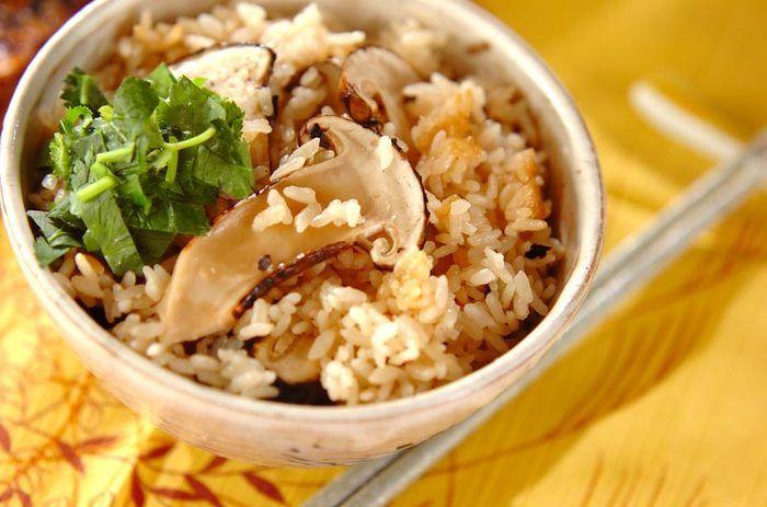 「松茸のみの松茸ご飯」 秋の味覚、キノコの王様といえばもちろん松茸。いつ何時松茸が手に入っても、このレシピを知っておけば大丈夫♪ほんの少しもち米を混ぜて、冷めても美味しい松茸ご飯です。
