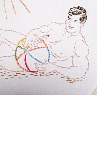 Beefcake beach cross stitch pattern by sublime