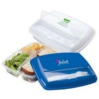 #Imprintable lunch container. Perfect for packing a school lunch.#lunchbox #lunchcontainer #customized #promoproduct Divided Lunch Containers - 3 Section Lunch Plate - Custom Lunch Container