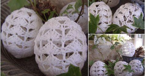 Marie Samngård's svenske opskrift på hæklede påskeæg var at finde på Minna's skønne blog Blomsterverkstad i marts 2012 og siden jeg lav...