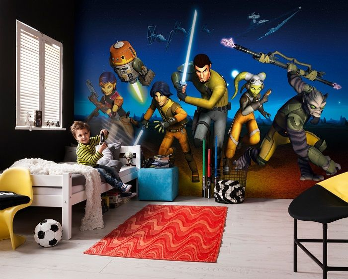 8 Giant Paper Wallpapers Star Wars Home Decor Ideas Star Wars Paper Wallpaper Mural Wallpaper