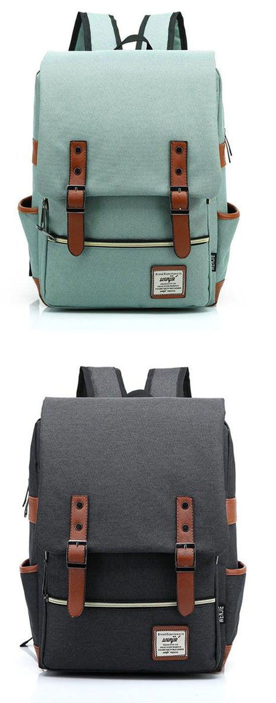 Vintage Canvas Travel Backpack Leisure Backpack&Schoolbag is so cool ! #backpack #leisure #canvas #vintage #bag #school #college