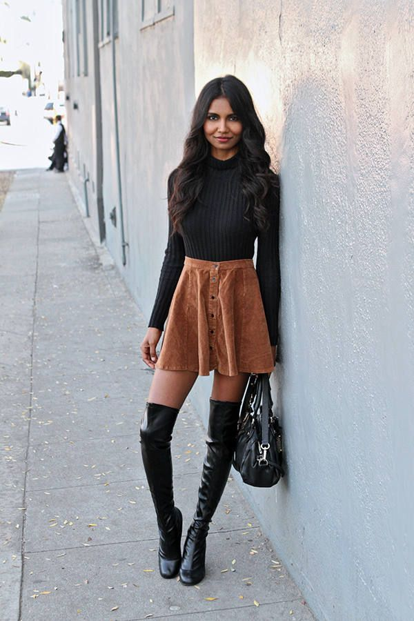 14 best High waisted mini images on Pinterest | Skirts, Suede ...