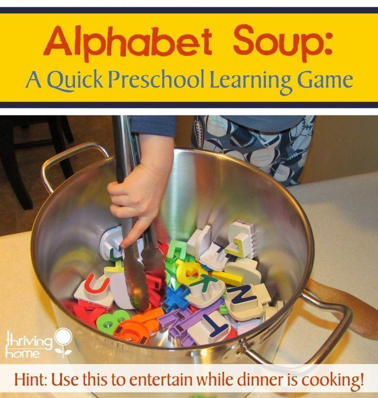 Alphabet Soup: Preschool Learning Game