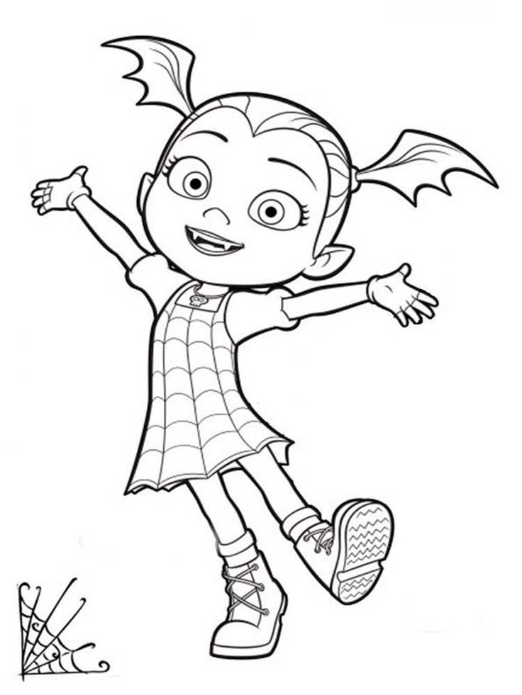 Free printable Vampirina coloring pages for Kids ...