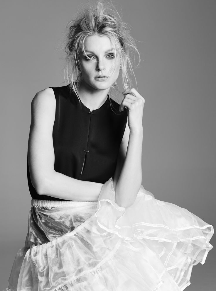 Jessica Stam wears CAMILLA AND MARC for RUSSH Magazine