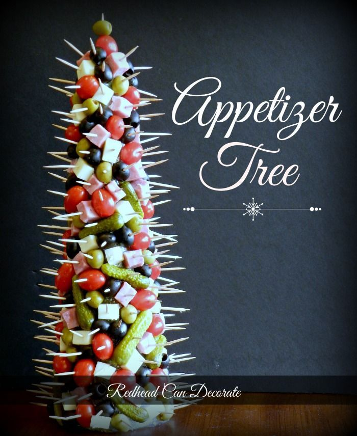 Appetizer Tree  {the great thing about this is that you could do it at any time of the year. I love this lady's ideas and her blog!}