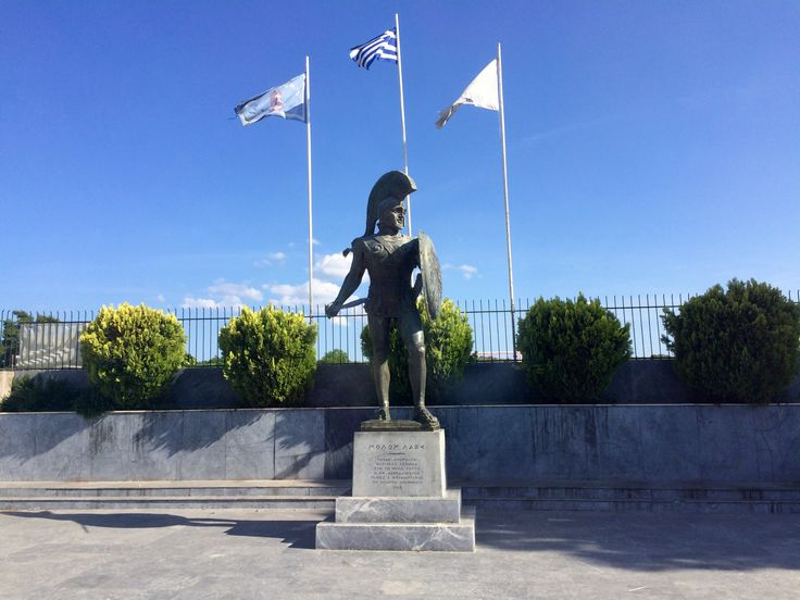 Statue of Leonidas, Sparta, Greece