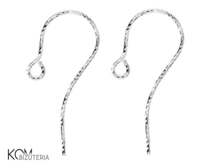 Super shiny! Diamond cut silver open ear wire earring kh 4.1 KOM Bizuteria. Wonderfully shiny diamond cut silver open ear wire earring KH4.1. It catches light and shines beautifully thanks to it's diamond coating.