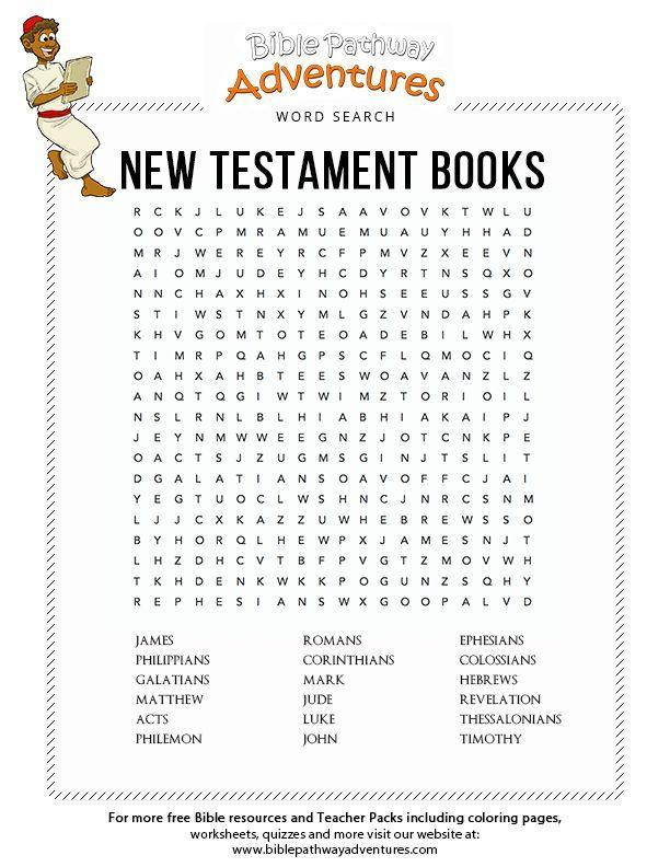 Free Bible Word Search New Testament Books Bible