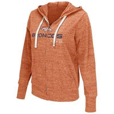 Touch by Alyssa Milano Denver Broncos Super Bowl XLVIII Ladies Free Agent Tri-Blend Full Zip Hoodie - Orange
