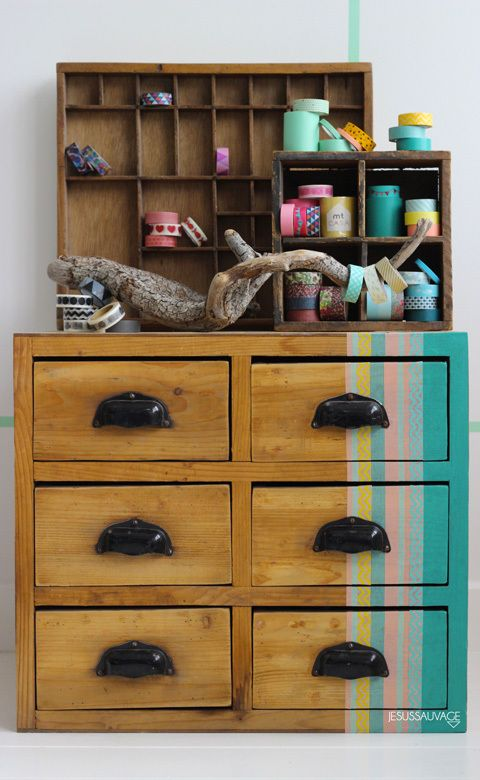 best 25 washi tape furniture ideas on pinterest ideas con washi tape en muebles diy washi. Black Bedroom Furniture Sets. Home Design Ideas