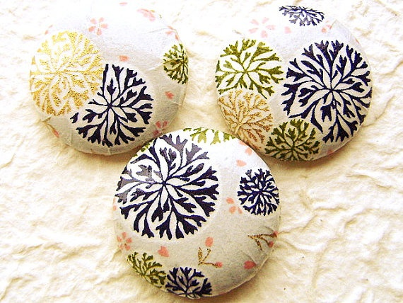 Chiyogami Button Paper Sew On by FromJapanWithLove on Etsy