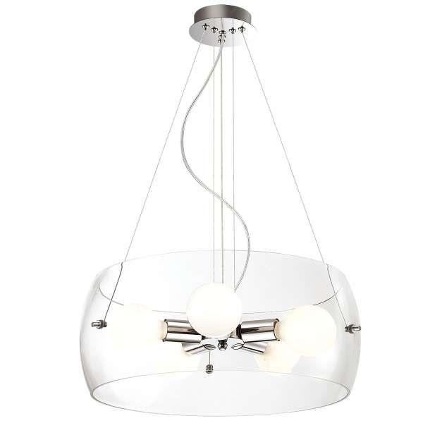 LAMPA wisząca LEMIO MA05020C-005 Italux szklana OPRAWA zwis okrągła przezroczysty