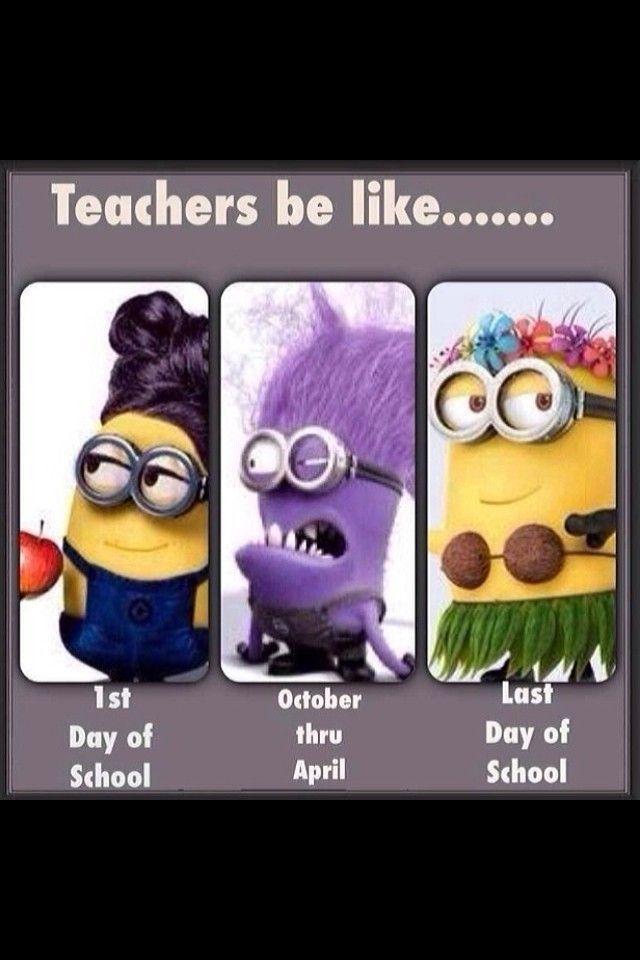 Teacher minions! LOVE. | Teacher humor, Funny pictures ...