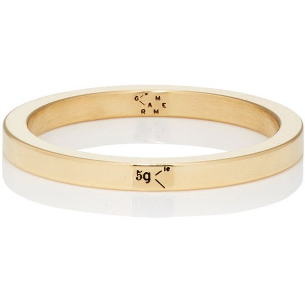 Le Gramme Men's Le 5 Ring ($1,195) ❤ liked on Polyvore featuring men's fashion, men's jewelry, men's rings, gold, mens yellow gold diamond rings, mens rings, mens gold band ring, mens watches jewelry and mens 18k gold rings