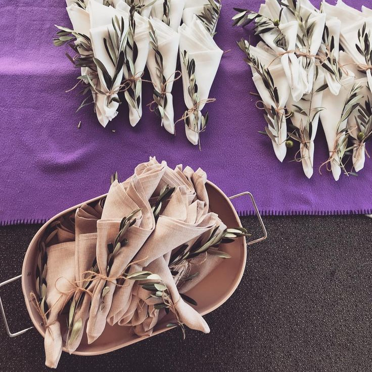 #wedding #preparations #olivebranch #napkins #diy #pink #blush #white #teamwork #friends #botanical #australia #countrywedding