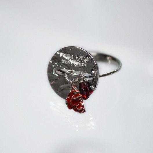 Battiquore Milano | Anello in argento 925 Granato naturale del Madagascar