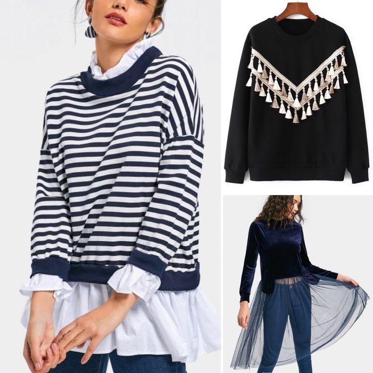 Sweaters - Temporada: Primavera-Verano - Tags: fashion, moda, swetaers, stardivariusblog - Descripción: Sudaderas originales de la mano de Zaful #FashionOlé