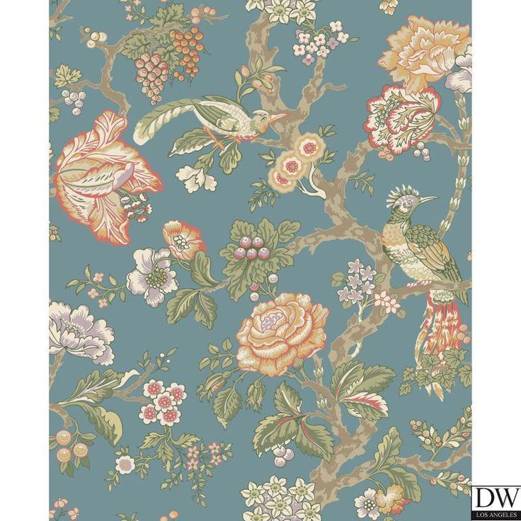 DW CLASSICS CASA BLANCA ROSE WALLPAPER [VAW-82098] Waverly Classic Wallpaper | DesignerWallcoverings.com | Luxury Wallpaper | @DW_LosAngeles | #Custom #Wallpaper #Wallcovering #Interiors