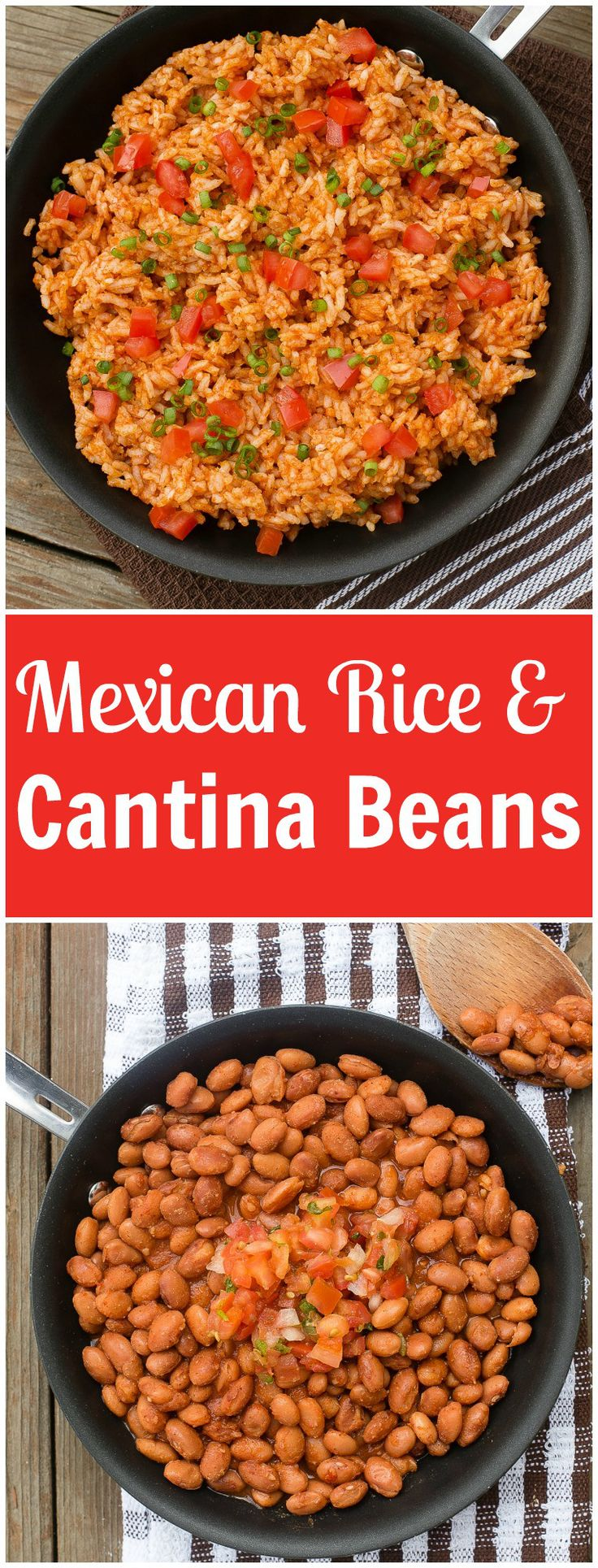 The very best mexican rice with a secret ingredient and cantina pinto beans that are quick and easy to make.