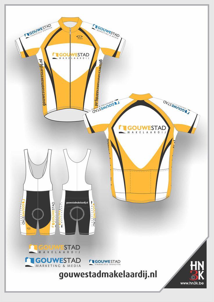 gouwestad cycling shirt cycling shin ort bike jersey fietstrui fietsbroek wieleruitrusting maillot @hn3k.be