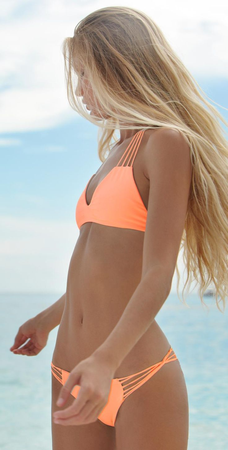 swimsuit   2015   coral string racerback