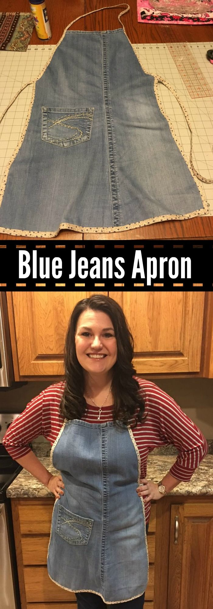 Blue apron how to recycle - Denim Apron Made Out Of Blue Jeans