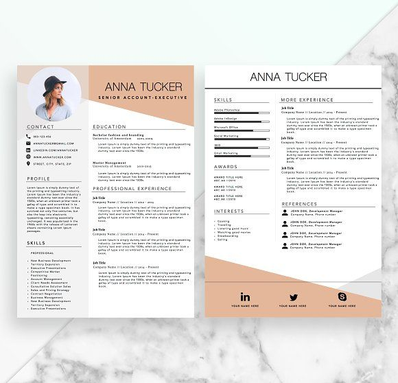 Best Resume Images On   Modern Resume Template