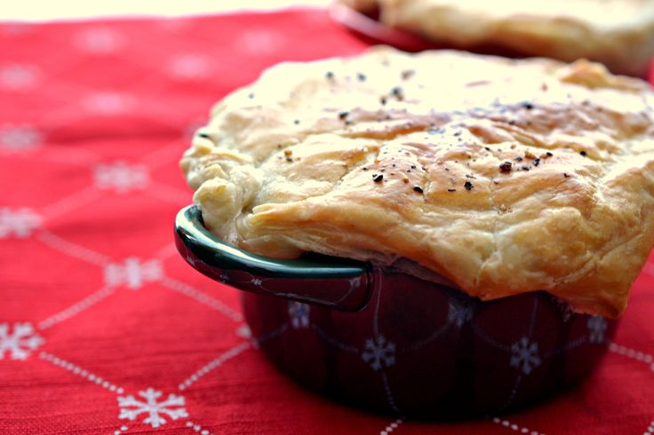 A recipe for an updated version of chicken pot pie