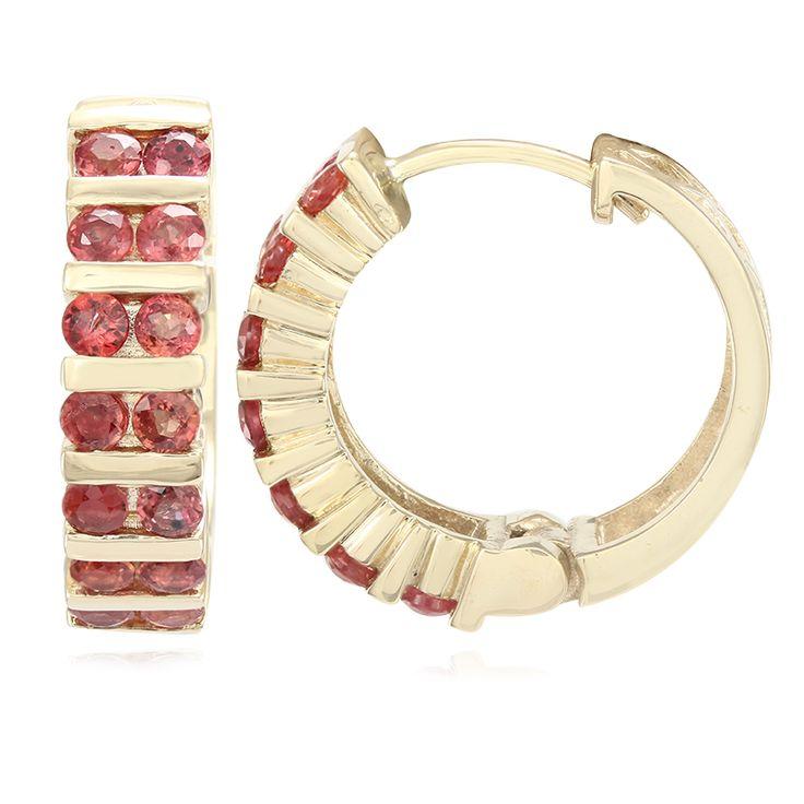 Gouden+oorbellen+met+avondrode+robijn+-+een+meesterwerk+voor+de+echte+sieraden+liefhebber.+Exclusieve+vakmanschap.+Alleen+verkrijgbaar+in+de+Juwelo+webwinkel.