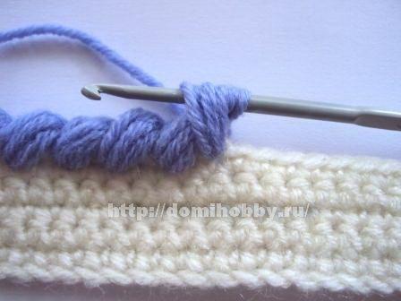puffy reverse stitch or puffy crab stitch