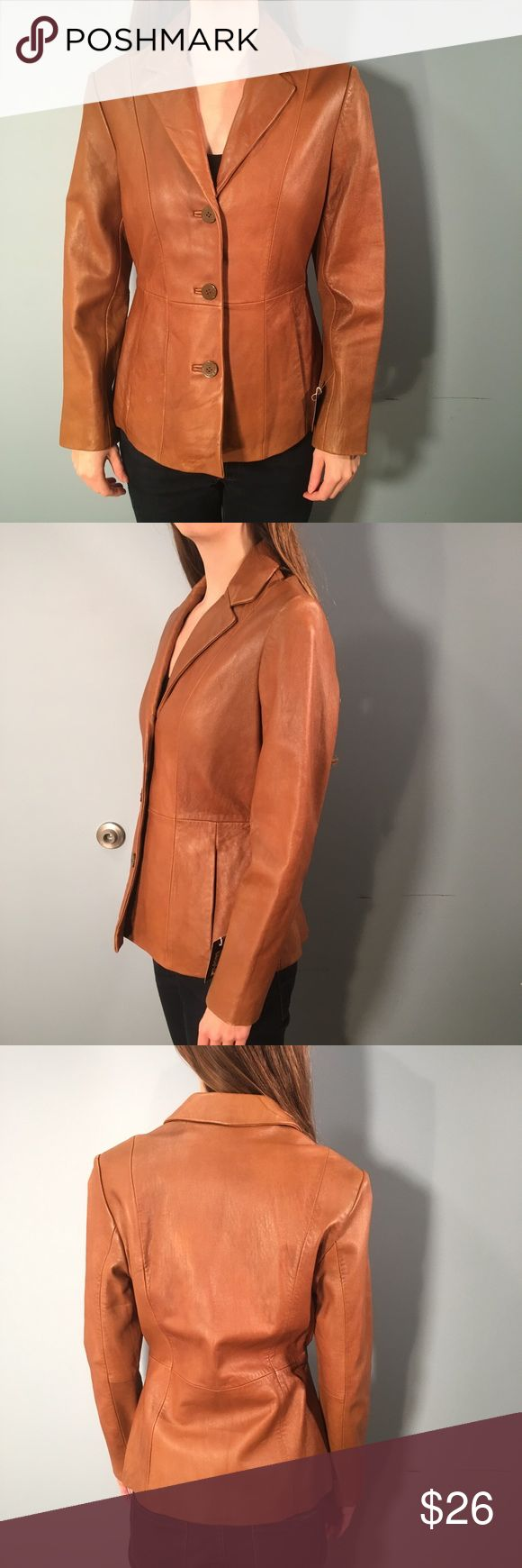 Wilsons Leather Tan Leather Jacket Size S Excellent condition!! Wilsons Leather Jackets & Coats Blazers