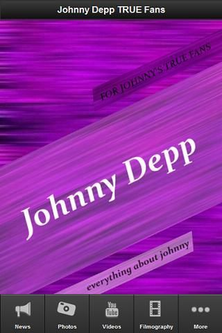If you want to know everything about Johnny Depp you must have this great android app on your phone. Be the first who know the latest news, recent tweets, photos, videos, movie trailers, what fans have to say about Johnny Depp and much more!<br/><br/>This free app gives you instant access to everything about Johnny Depp all day everyday:<br/><br/>* the latest Johnny Depp news <br/>* live tweets <br/>* videos and movie trailers<br/>* filmography<br/>* photos<br/>* fan-blog<br…