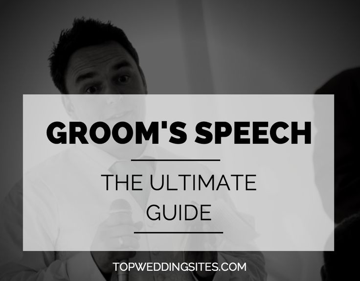 The groom's speech a big part of the wedding experience for everybody. This…